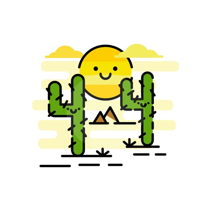 404 Error Page | Cactus | Sun | Desert | Graphic Design | Icons | UI | UX | Website | Web Page | Designer