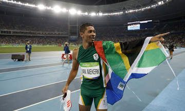 Van Niekerk led from start to finish blowing away his main competitors Kirani James and Lashawn Merritt.