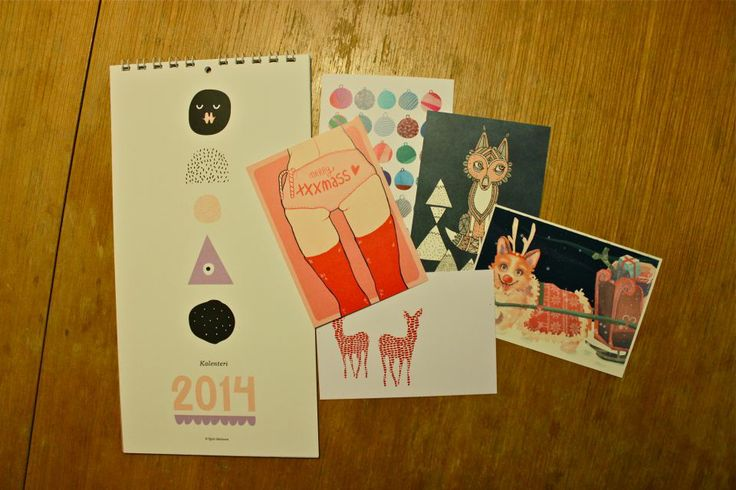 The 3rd of December. Christmas cards to send to friends and family and a calendar to decorate the wall.