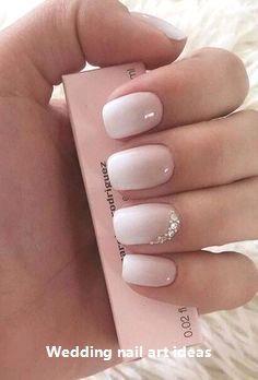 35 Simple Ideas for Wedding Nails Design #nailartideas #naildesigns –