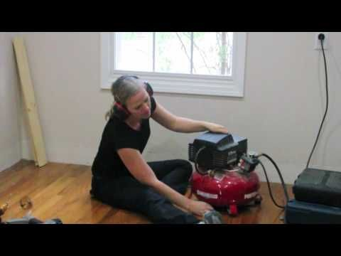 How to: Air Compressor and Nail Guns - YouTube