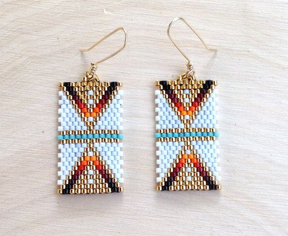 These earrings are delicate and lovely. Perfect for someone who just wants to add a touch of the Southwest to their wardrobe. Length: 2 inches,