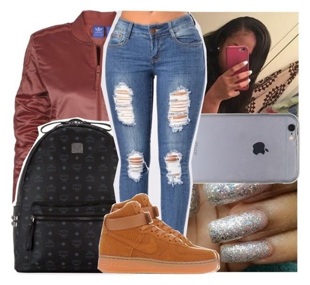 """""""— i was good on my own that's the way it was . """" by ayooshaanti ❤ liked on Polyvore featuring adidas, MCM and NIKE"""