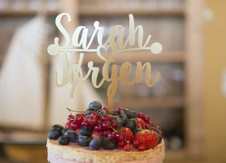 Our personalised cake topper by Sophia Victoria Joy at www.notonthehighstreet.com.   Photo: Sine Perrod