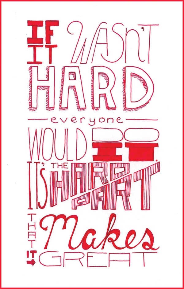 Typography Sketches by Melissa Johnson, via Behance