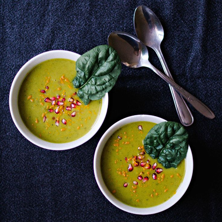 Turmeric Spiced Coconut Milk Soup with Potato Spinach