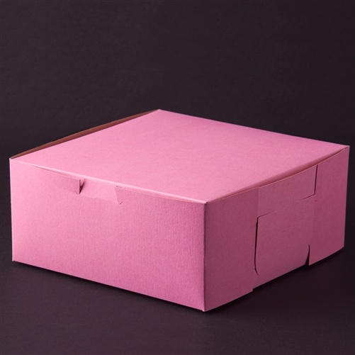 10 x 10 x 4 Pink Bakery Box Case/100 for $39.01