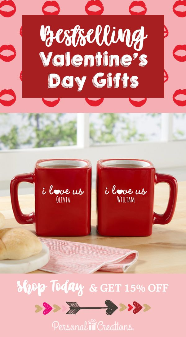 Express your love this Valentine's Day with personalized gifts. Shop today and get 15% off your order.