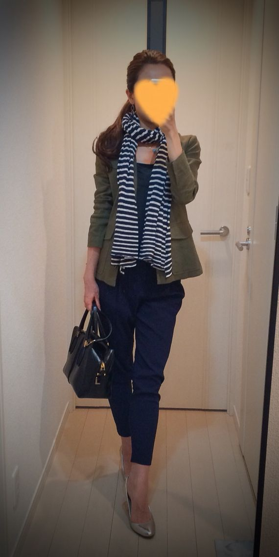 Jacket: Theory Tee: James Perse Pants: Des Pres Bag: Tod's Heels: Coach Scarf: Rakuten
