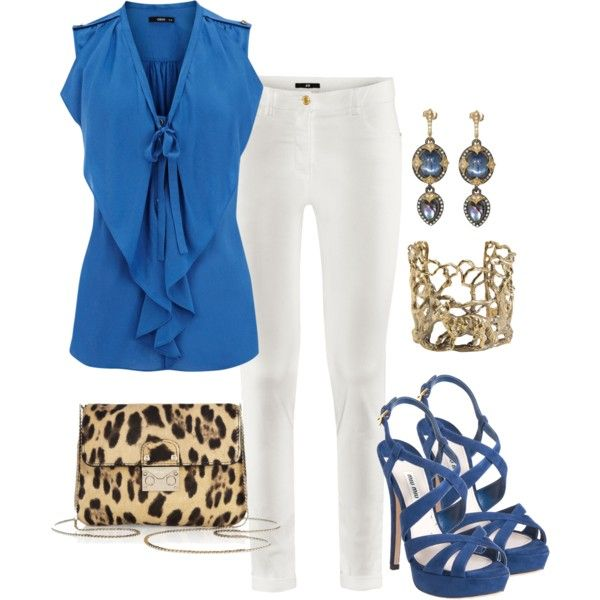 """""""royal and leopard"""" by lisamichele-cdxci on PolyvoreBusiness Fashion, Fashion Clothing, Fashionista, Closets, High Fashion, Dressy Clothing, Fashion Insperational, Wear, Date Night Outfits"""