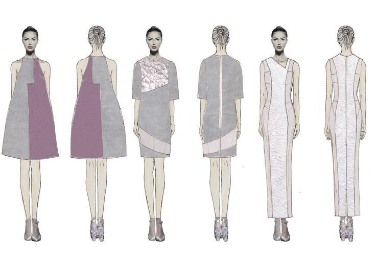 raquel galiano-fashion-designer-illustration-collage-figurines-fashion plate