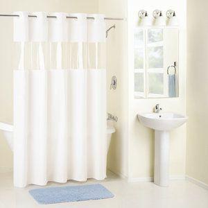 The head see through shower curtain