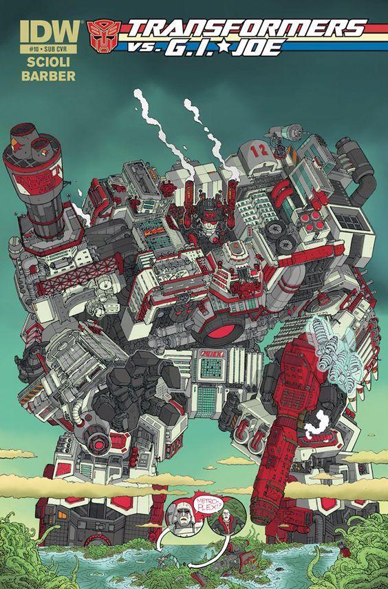 Transformers vs G.I. Joe #10 Cover Metroplex