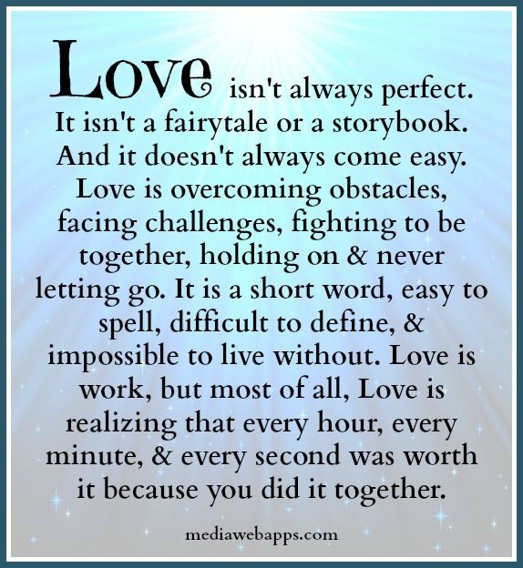 Love isn`t always perfect, but this definitely defines TRUE LOVE.