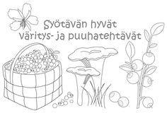 Arktiset aromit - Syötävän hyvät väritys- ja puuhatehtävät.