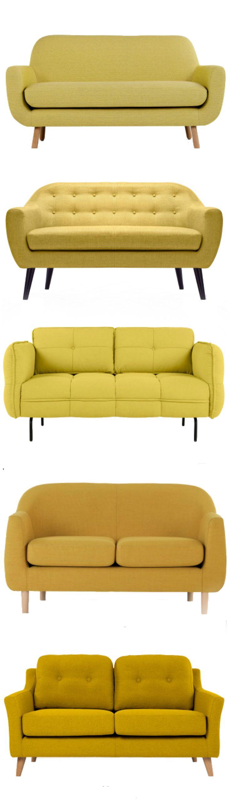 Hello Yellow! Einige unserer liebsten Made.com Sofas in der Trendfarbe Gelb…