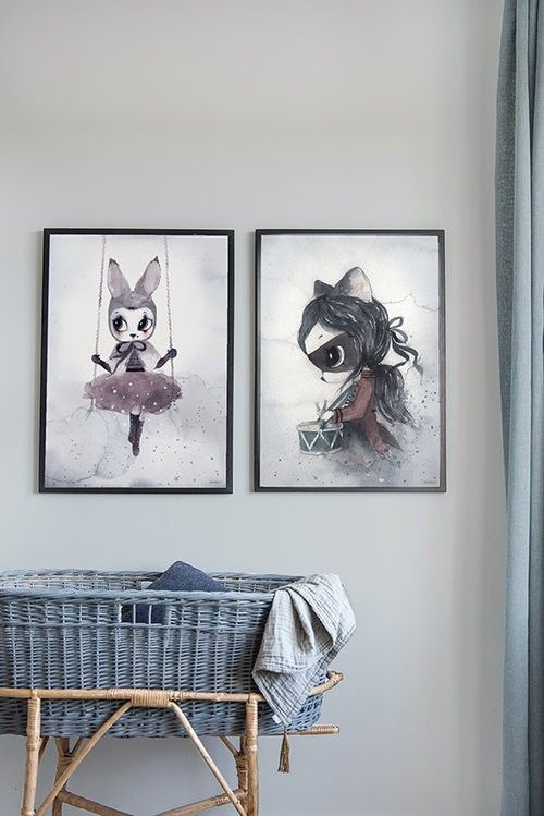 Miss Astrid Print Miss Klara Print Mrs Mighetto are truly something unique to add to your little ones wall. We fell in love with these water paiting prints which ooze of fantasy, history, mystery and colour. Modern nursery print