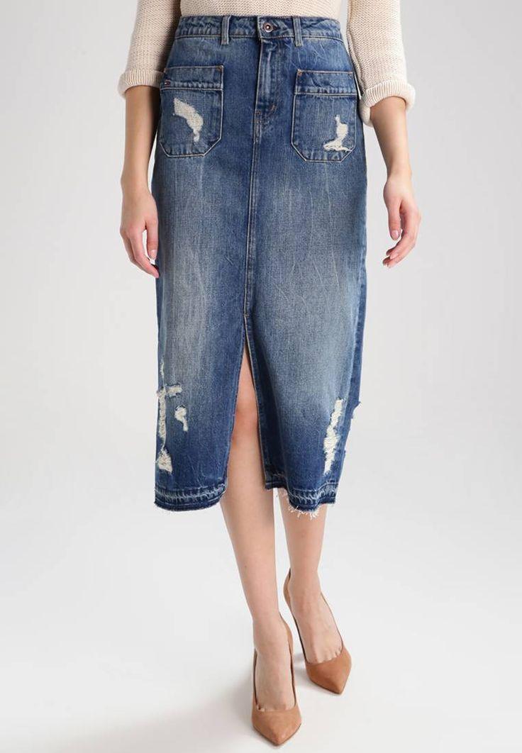 jupe crayon denim zalando denim jeans denim jupe. Black Bedroom Furniture Sets. Home Design Ideas