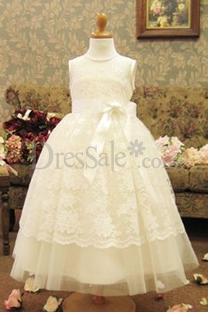 Beauteous Puffy Flower Girl Dress with Exquisite Lace Wrapping, New Style Flower Girl Dresses - dressale.com