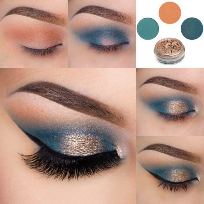 Glamorous And Wearable Glittering Eye Shadow Makeup Online Eye
