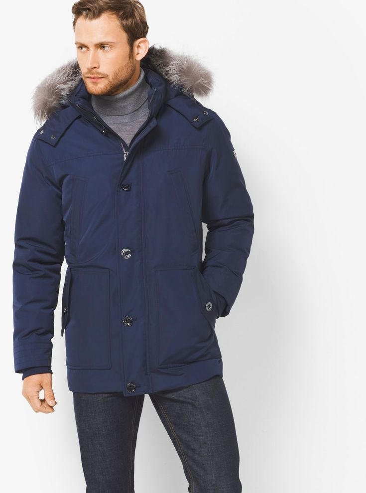 Guys, brave the elements of this winter in style with this stylish #michaelkors Fur Trimmed Parka 😍