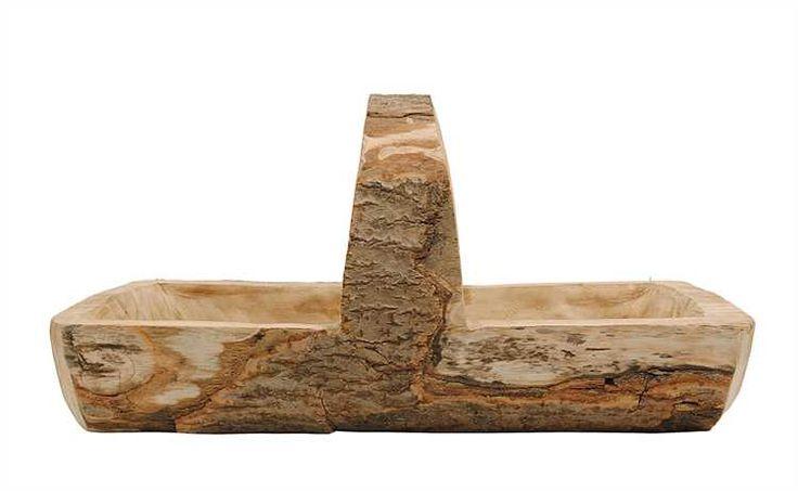 Wood Basket With Handle - Harp Design Co. | Kitchens