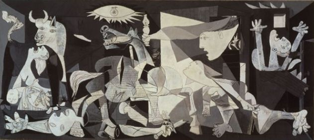 Guernica is one of Pablo Picasso most famous paintings, showing the tragedies of war and the suffering it inflicts upon individuals, particularly innocent civilians. Picasso's purpose in painting it was to bring the world's attention to the bombing of the Basque town of Guernica by German bombers, who were supporting the Nationalist forces of General Franco during the Spanish Civil War. Picasso completed the painting by mid-June 1937. The painting can be seen in the Museo Reina Sofía in…