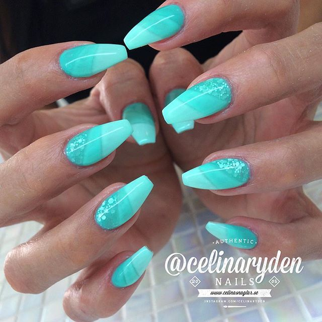Turquoise nails | by Celina Rydén - 10 Best July 2017 Images On Pinterest Nail Scissors, Nail Design