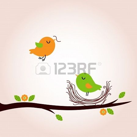Bird nest - vector cartoon Illustration