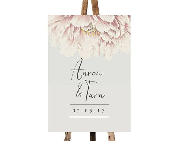 Printable Chalkboard Wedding Welcome Sign | Forever Yours | Customize the names of the Bride & Groom | DIY Printable Reception Sign