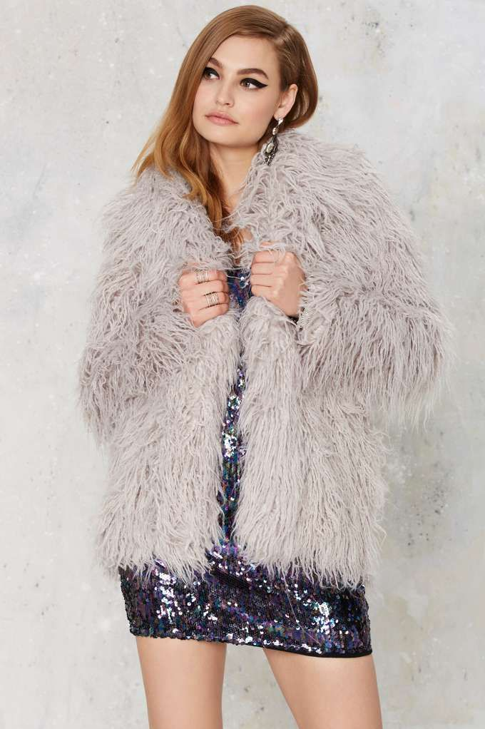 Glamorous Sweet Shag Oversized Jacket - Clothes | Cold Weather Gear | All | Party Shop | Faux Fur | Fur