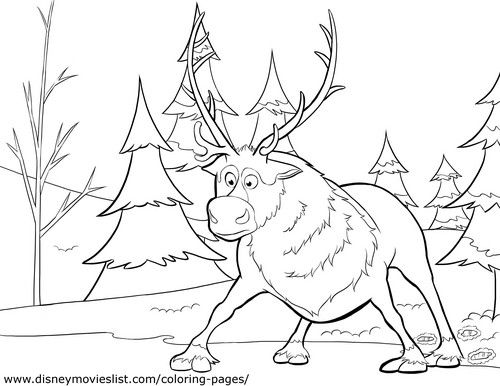 Photo of Sven Coloring Page for fans of Olaf and Sven. Frozen (2013)