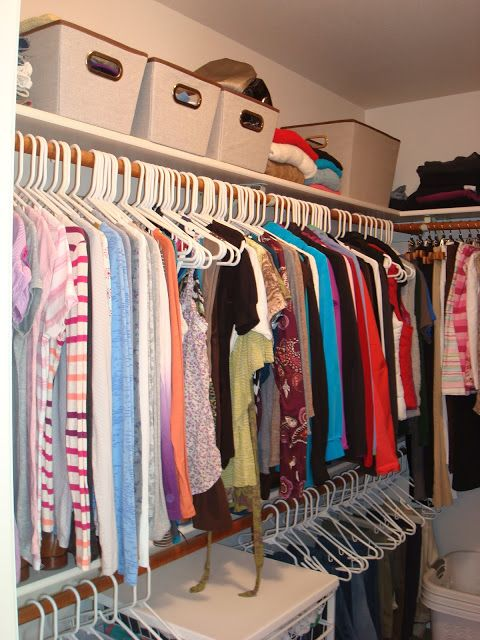 129 best organized closets images on pinterest for Organizing a walk in closet