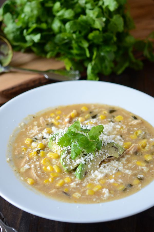 Roasted Poblano, Corn & Chicken Soup Food Recipes, Chicken Poblano ...