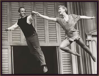 Robbins taking choreography to the air with Mary Martin in Peter Pan
