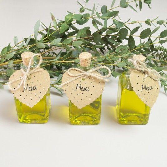 Des fioles d 39 huiles d 39 olive en cadeaux d 39 invit s pour vos jolies - 1001 cadeaux liste de mariage ...
