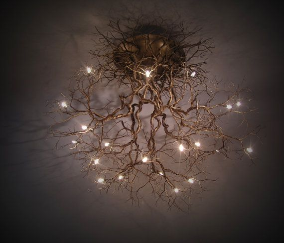Roots Large ,Handmade ceiling light made of pewter wires on SALES. Original price 3,350.00 Now 2,950.00 euros by FMFOS on etsy.com