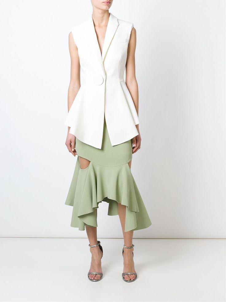 Givenchy облегающая юбка с баской