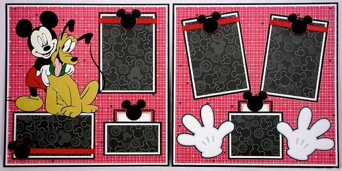 Disney World scrapbook layout idea