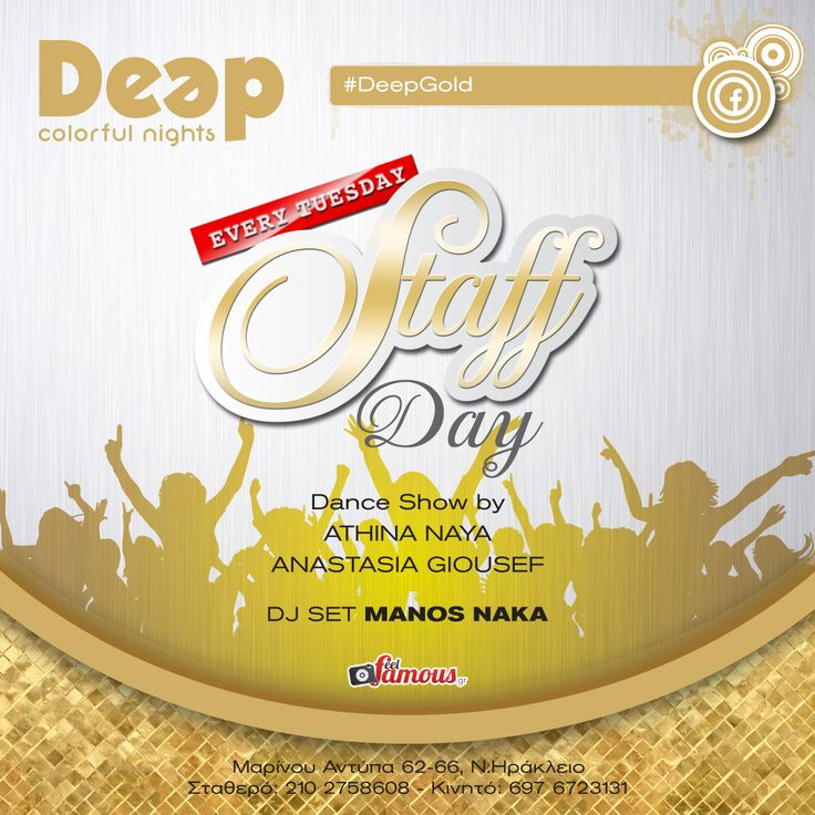 #DeepGold every Tuesday Staff Day