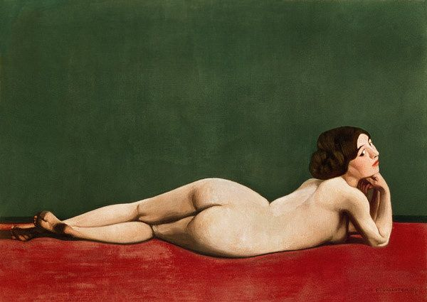 Félix Vallotton, Nude Stretched out on a Piece of Cloth, 1909