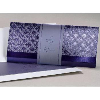 Faire part mariage «  Noces violettes » EC-M17-006-M