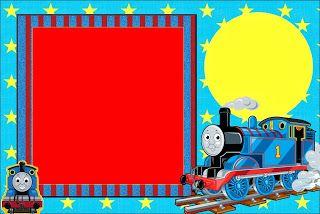 Thomas the Train: Free Printable Invitations.