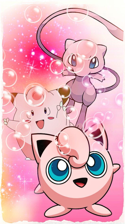 Pokemon Go - Jigglypuff, Clefairy, Mew.