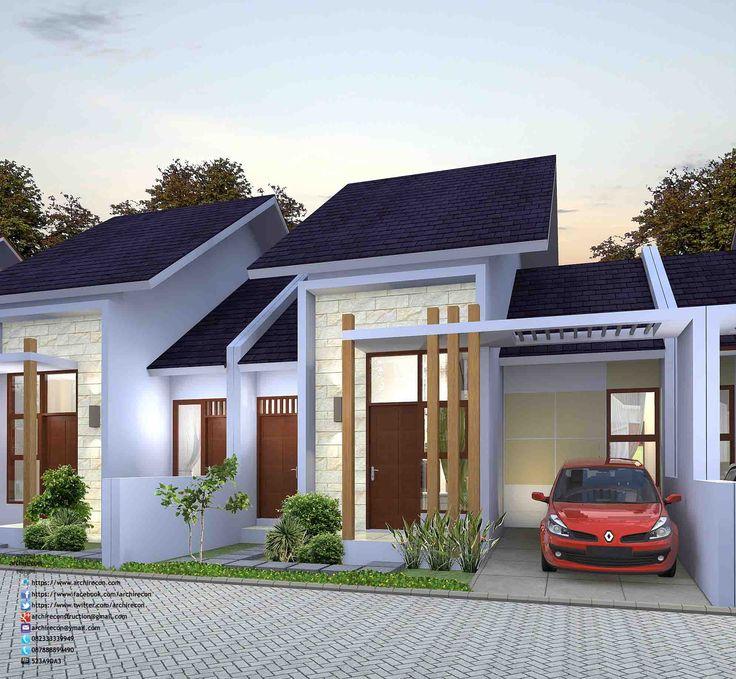 Desain Perumahan Minimalis Perumahan Graha Purwosari Regency - Type 65 3D View