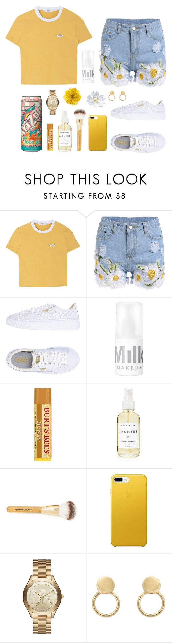 """""""911/ Lonely 🌼"""" by cheyhall ❤ liked on Polyvore featuring Puma, A Weathered Penny, Michael Kors and Gucci"""