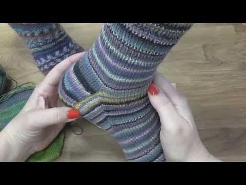 Kurz pletení ponožek - klínky (5. díl) Knitting socks - YouTube