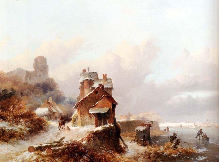 Frederik Marinus Kruseman - Winterlandschap (5)