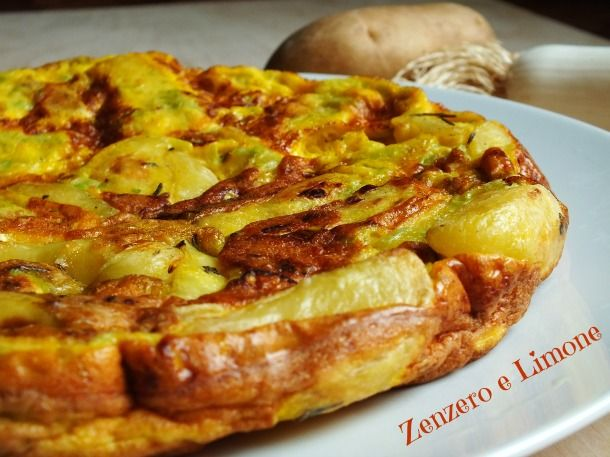 Frittata patate e porri - #omelette