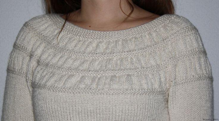 enkel genser strikkeoppskrift - Google-søk